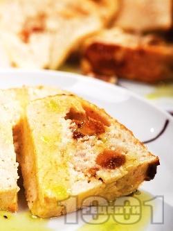 Испански плодов сладкиш със сушени смокини и извара (или рикота) - снимка на рецептата